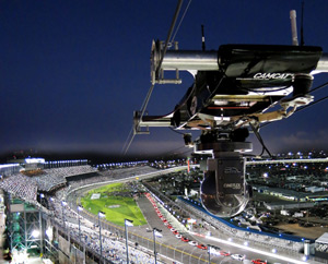 Foto: CAMCAT® High Speed System at Daytona 500, 2013 (image by CAMCAT® SYSTEMS GmbH)