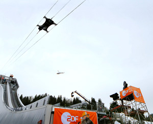 CAMCAT® High Speed System at ski-jumping in Garmisch, 2009 (image by CAMCAT® SYSTEMS GmbH)