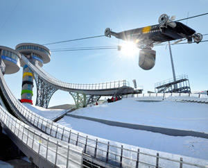 CAMCAT® High Speed System at ski-jumping in Erzurum (Turkey), 2011. (image by CAMCAT® SYSTEMS GmbH)