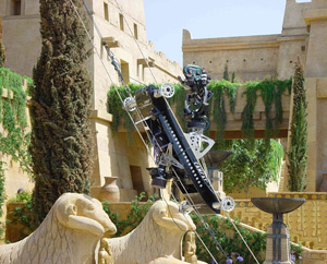 CAMCAT® Vertical System at the set of Troy (Warner Brothers), 2004. (image by CAMCAT® SYSTEMS GmbH)